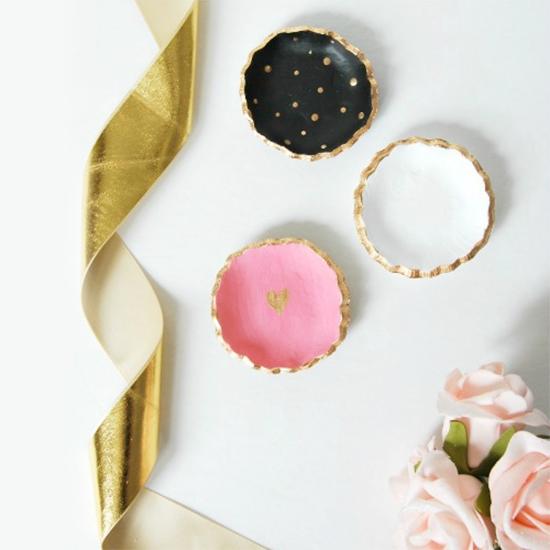 DIY clay jewelry bowls