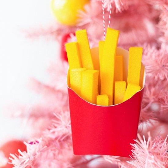 DIY French Fry Ornaments