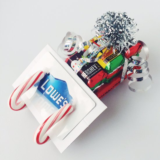 candy cane sleigh gift card holder - Candy Sleighs For Christmas