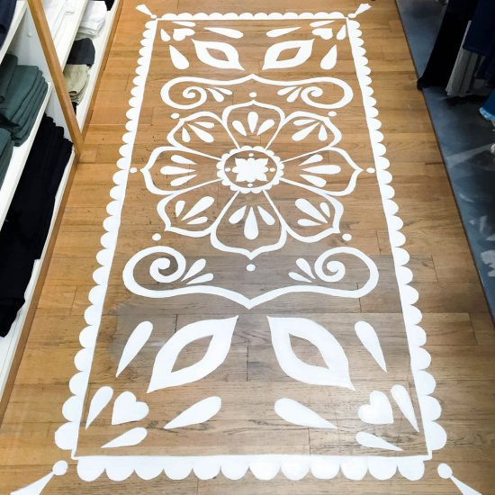 Mandala Rug Floor Painting Craftgawker