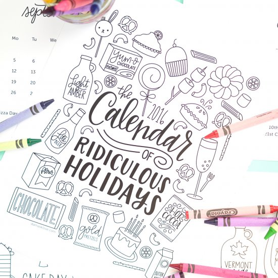 photo about Printable Coloring Calendar called printable coloring calendar craftgawker