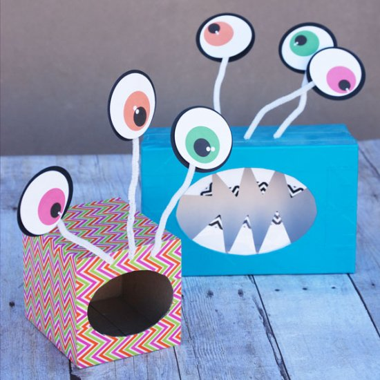 big eyed monster valentine boxes - How To Make Valentine Boxes