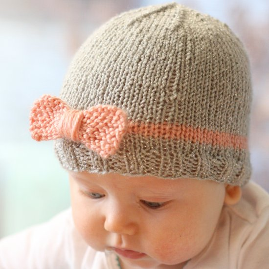 Knit Bow Baby Hat Pattern Craftgawker