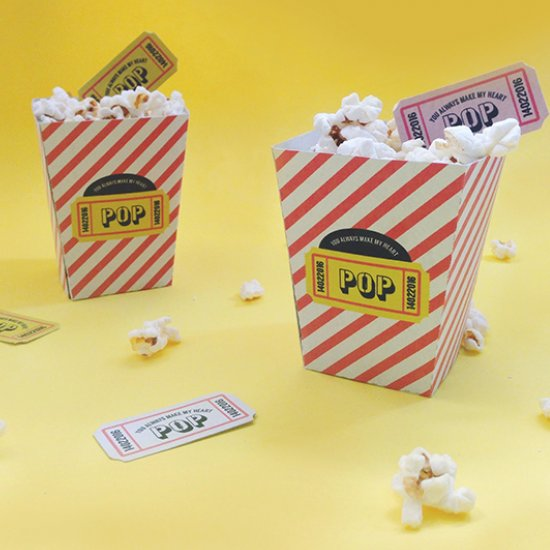 picture about Printable Popcorn Box named popcorn box gallery craftgawker