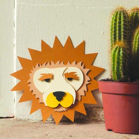 3D paper Craft Lion Art Print