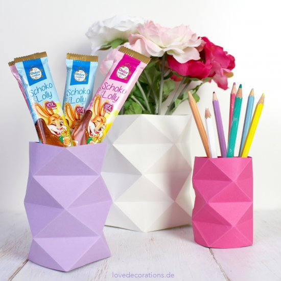 Diy Origami Vase With Lozenge Craftgawker