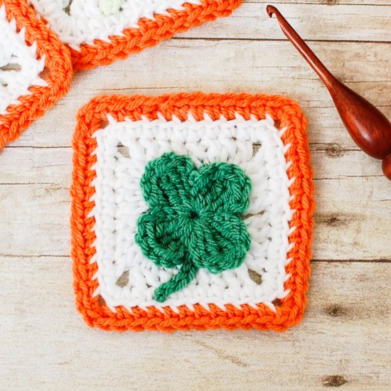 Crochet Clover Afghan Square Pattern Craftgawker