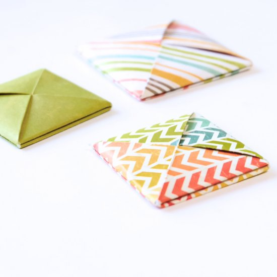 Origami Square Envelopes