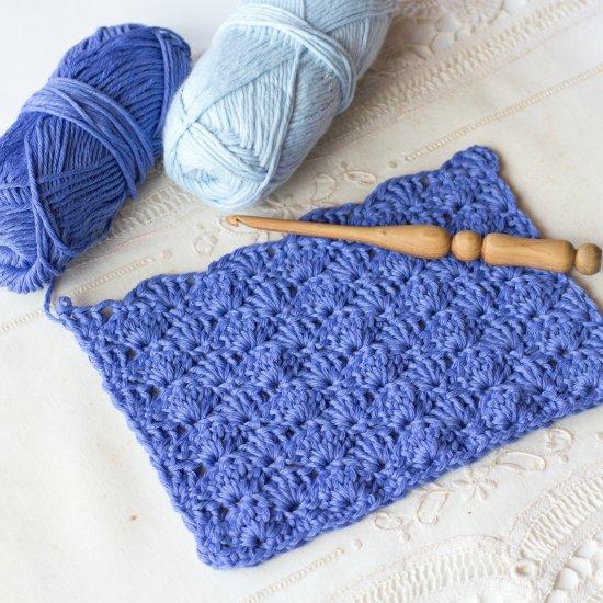 Solid Shell Stitch Crochet Tutorial