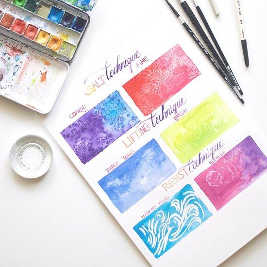 Beginner watercolor techniques