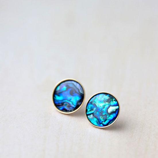 Abalone S Stud Earring Diy