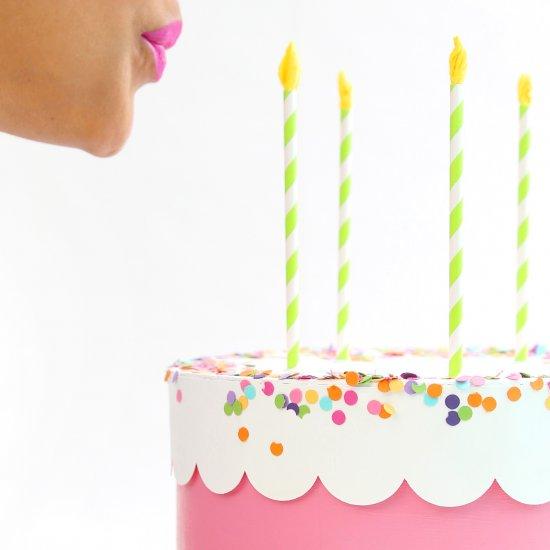 Prime Diy Paper Birthday Cake Box Craftgawker Personalised Birthday Cards Paralily Jamesorg
