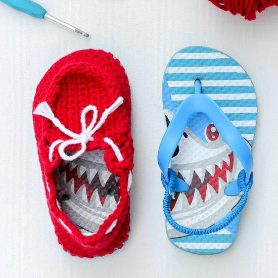 Boat Shoes Gallery Craftgawker Mesmerizing Crochet Shark Slippers Pattern Free