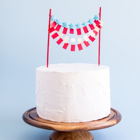 Origami Stars Stripes Cake Topper
