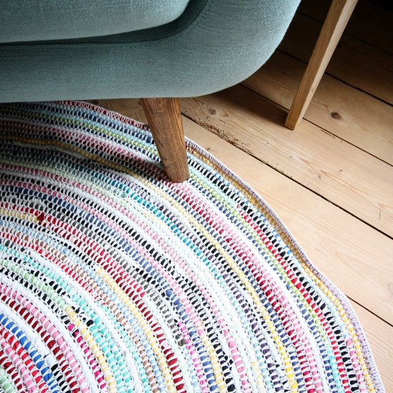 Crochet Rug From Recycled T-shirts
