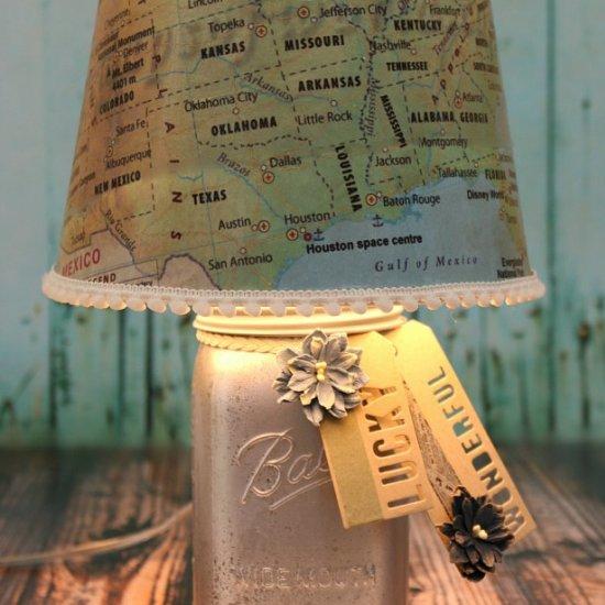 Lampshade gallery craftgawker diy map lampshade makeover tutorial aloadofball Gallery