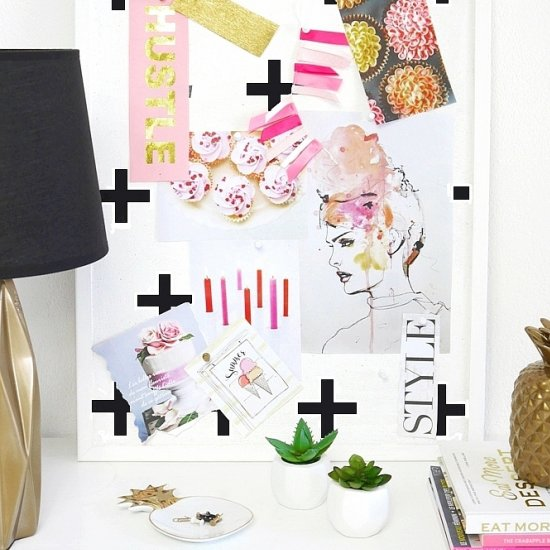 DIY Geometric Bulletin Board