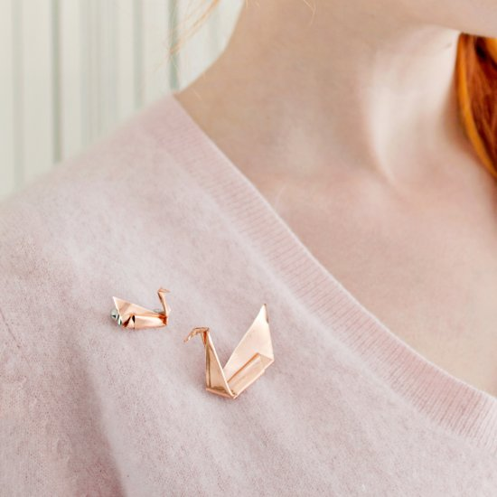 DIY Copper Origami Brooch