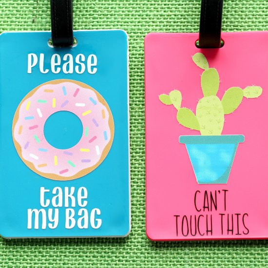picture regarding Luggage Tags Printable named Do it yourself Baggage Tags (That Discuss) - Lydi Out Loud