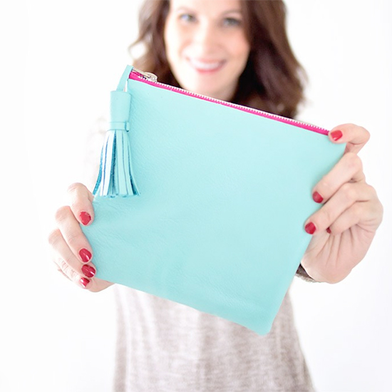 No-Sew Leather Clutch in 15 Minutes