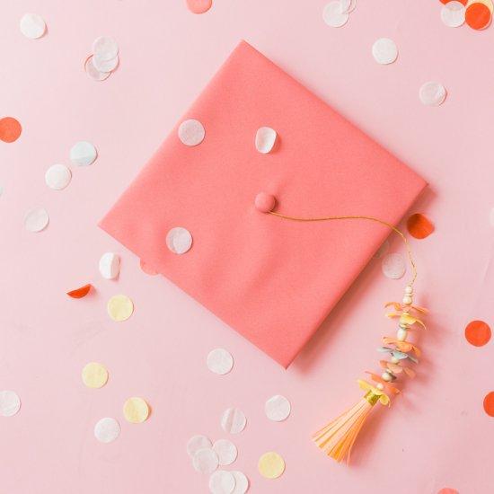 Paper Flower Graduation Tassel