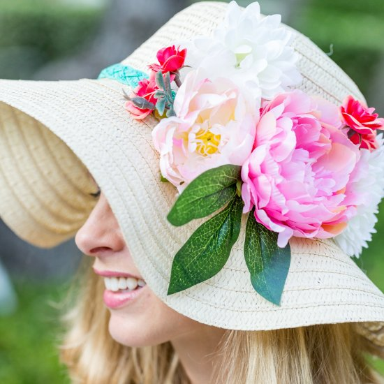 DIY Floral Kentucky Derby Hat