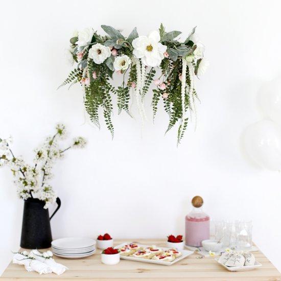 Diy floral chandelier craftgawker diy floral chandelier aloadofball Choice Image