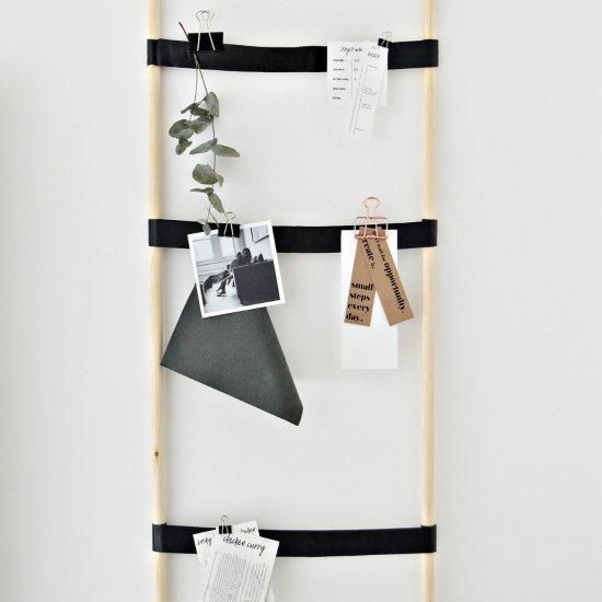 DIY ladder notice board