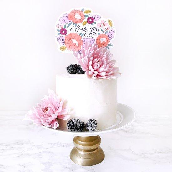 Cake Topper DIY For Mom