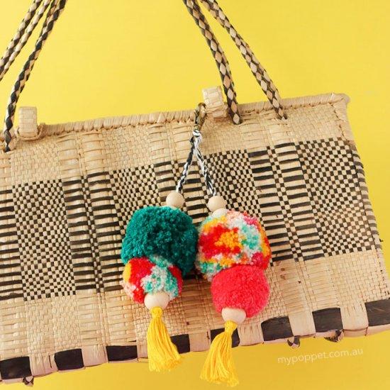 Pom Pom Bag Charm Keychain