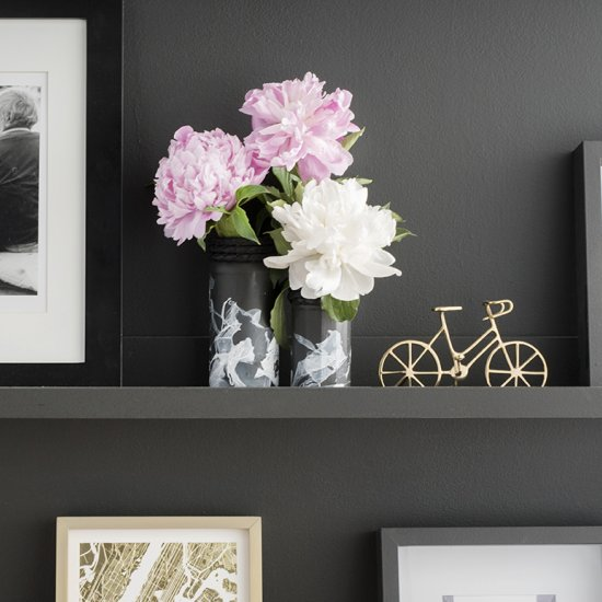 Flower vase gallery craftgawker diy black white flower vases mightylinksfo Image collections