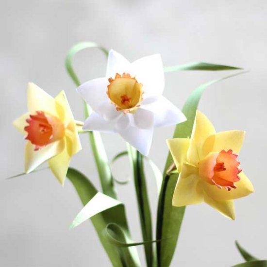 diy paper daffodil free template craftgawker