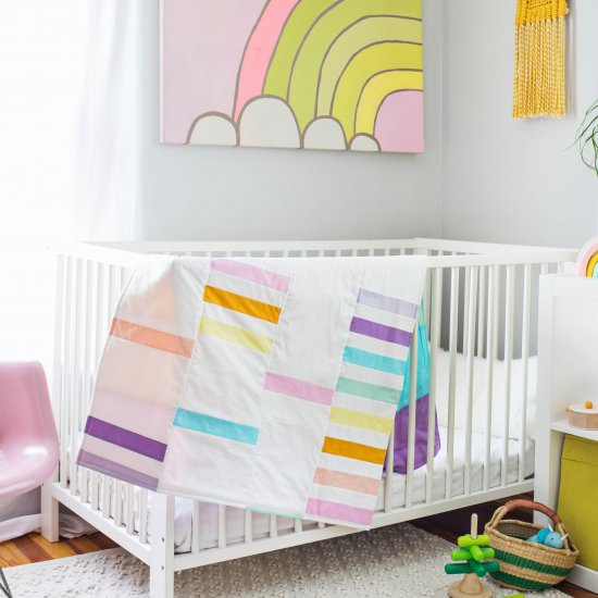 Rainbow Quilt DIY