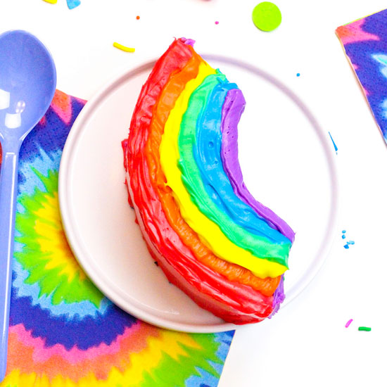 DIY Mini Rainbow Emoji Cakes!
