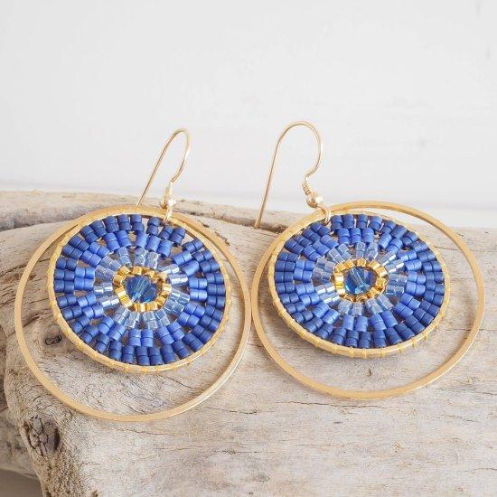 DIY Miyuki Ombre Circles Earrings