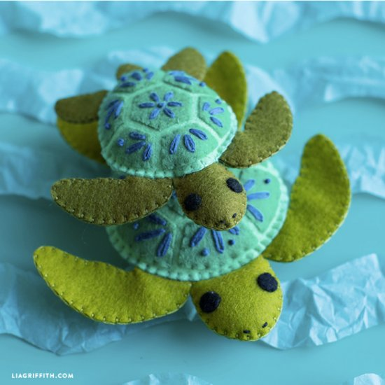 Felt Turtle Stuffie