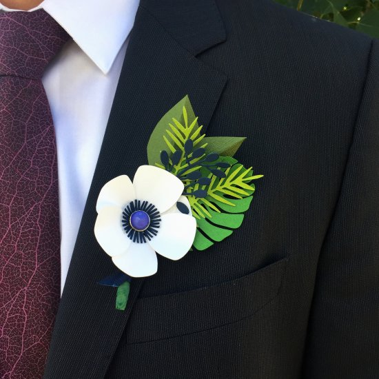 Father's Day Paper Boutonniere