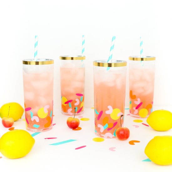 Confetti Drinking Glasses