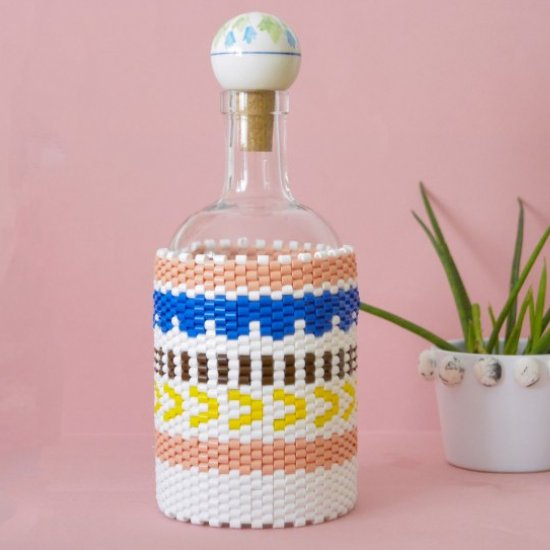 DIY Peyote Stitch Bottle Cover