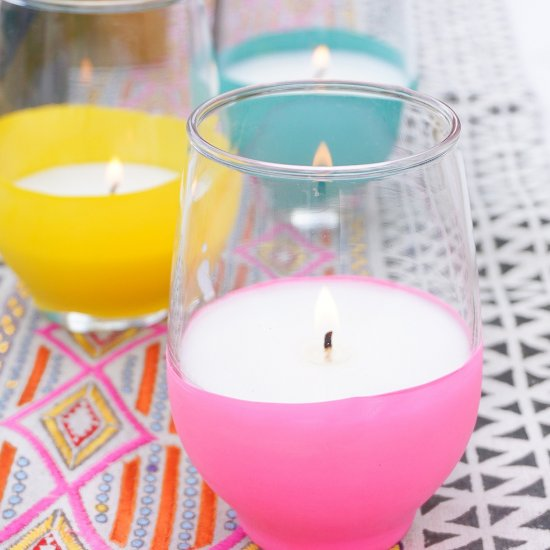 DIY Dipped Citronella Candles