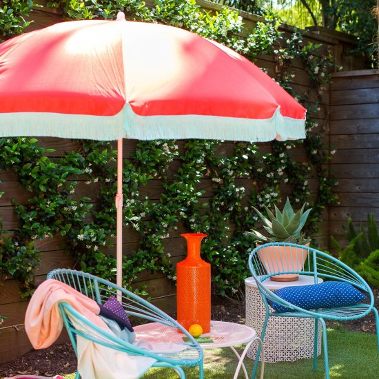Diy Retro Beach Umbrella