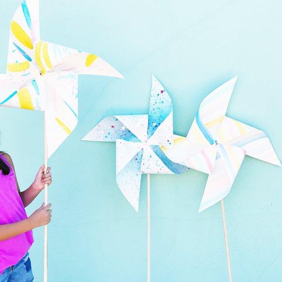 Giant Painted Pinwheels