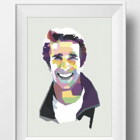 The Fonz Cross Stitch – PatternSass
