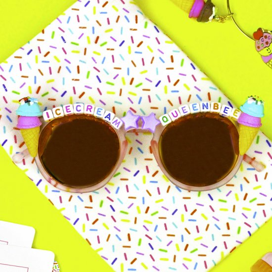 DIY Ice Cream Queen Sunglasses!