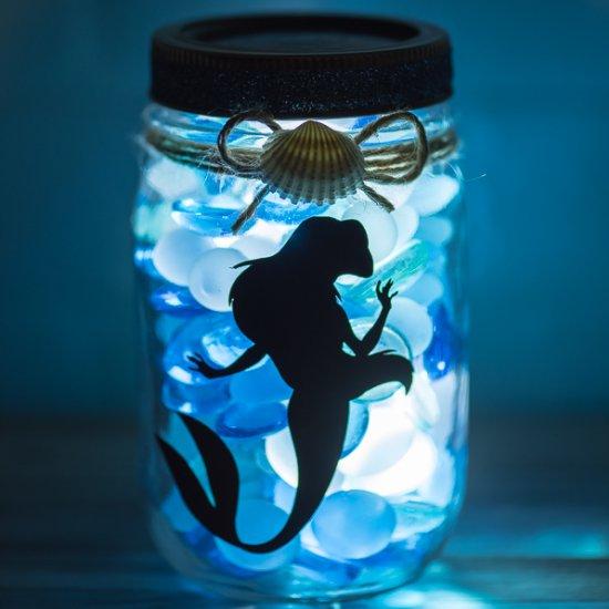 Little Mermaid Mason Jar
