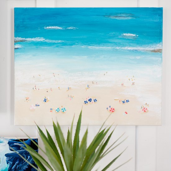 How to paint a beachy scene