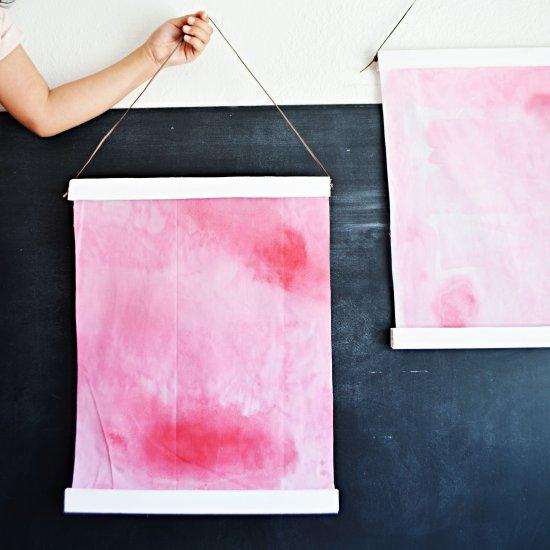 DIY Watercolor Hanging