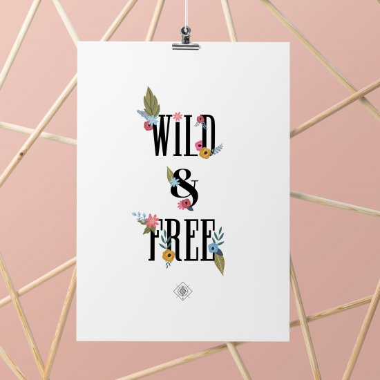 Wild and Free Botanical Printable