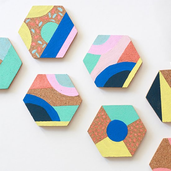 Colorful Coasters DIY