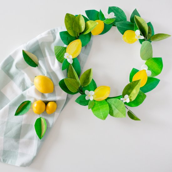 Paper Lemon Wreath
